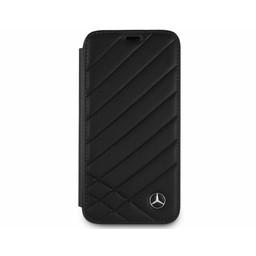 Mercedes-Benz Originele Pattern II Folio Bookcase voor de Apple iPhone X / XS - Zwart
