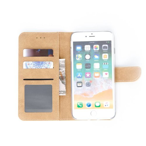 Bookcase Apple iPhone 7 Plus hoesje - Goud