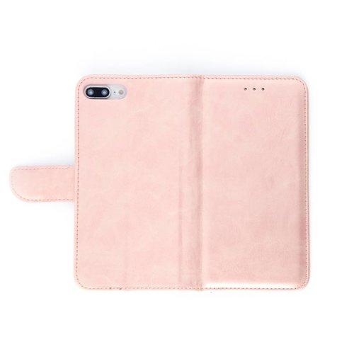 Bookcase Apple iPhone 8 Plus hoesje - Rosé Goud