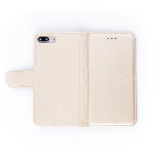Bookcase Apple iPhone 8 Plus hoesje - Goud