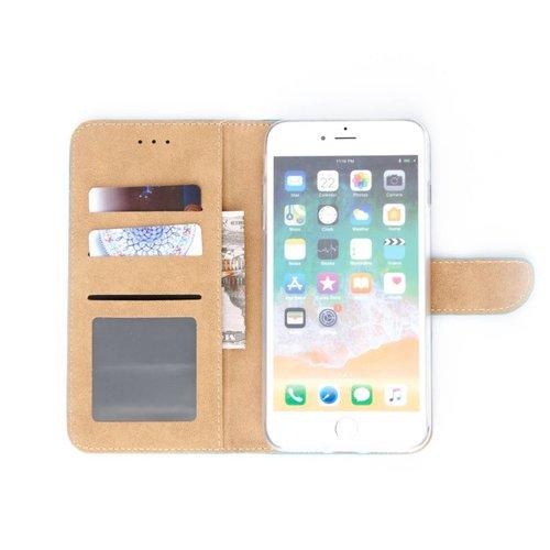 Bookcase Apple iPhone 8 Plus hoesje - Blauw