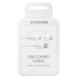 Samsung Originele 2-in-1 Type-C en Micro USB Originele kabel 1.5 meter - Wit