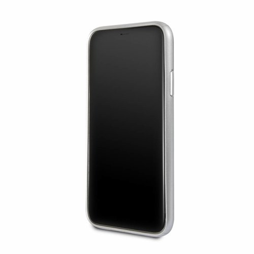 BMW Originele Aluminium Signature Back Cover Hoesje voor de Apple iPhone X / XS - Zilver