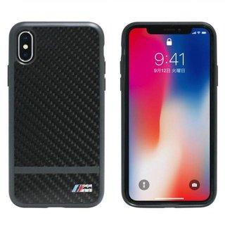 Originele Carbon Stripe Back Cover Hoesje voor de Apple iPhone X / XS - Zwart