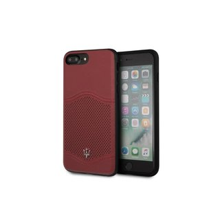 Originele Koningsleer Back Cover Hoesje voor de Apple iPhone 6 Plus / 6S Plus /  7 Plus / 8 Plus - Bordeauxrood