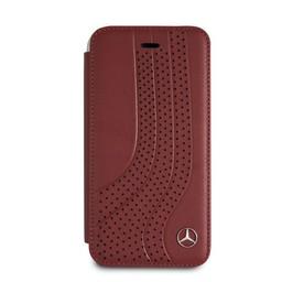 Mercedes-Benz Originele Upward Wave Bookcase voor de Apple iPhone 6 / 6S / 7 / 8 - Rood