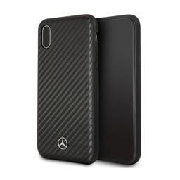 Mercedes-Benz Originele Dynamic Carbon Back Cover Hoesje voor de Apple iPhone X / XS - Zwart