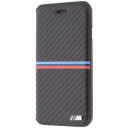 BMW Originele M-Sport Carbon Collection Bookcase hoesje voor de Apple iPhone 6 / 6S - Zwart