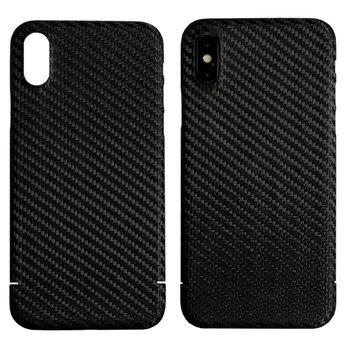 Nevox Originele Magnet Carbon Back Cover Hoesje voor de Apple iPhone XS - Zwart