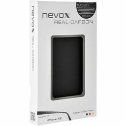 Nevox Originele Magnet Carbon Back Cover Hoesje voor de Apple iPhone X  / XS - Zwart