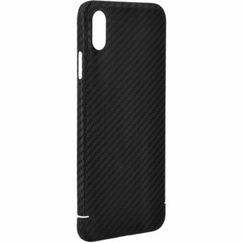 Nevox Originele Magnet Carbon Back Cover Hoesje voor de Apple iPhone XS Max - Zwart