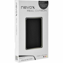Nevox Originele Magnet Carbon Back Cover Hoesje voor de Apple iPhone XS Max - Zwart