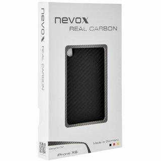 Originele Carbon Back Cover Hoesje voor de Apple iPhone XS - Zwart