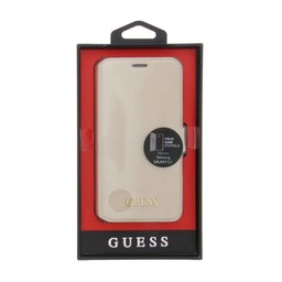 Guess Originele Saffiano Collection Bookcase hoesje voor de Samsung Galaxy S7 - Beige