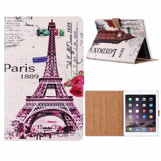 Parijs print lederen standaard hoes voor de Apple iPad 2/3/4 (9.7 inch) - Wit