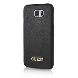 Guess Originele Saffiano Collection Back Cover Hoesje voor de Samsung Galaxy S7 - Zwart