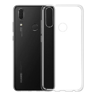 Huawei P20 Lite siliconen (gel) achterkant hoesje - Transparant