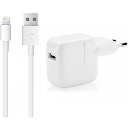 Apple 12W USB Originele Power Adapter Kop oplader met 2 Meter Lightning kabel