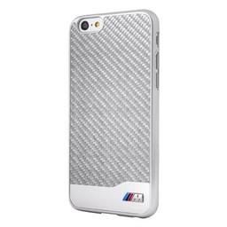 BMW Originele M Carbon Collectie Back Cover Hoesje voor de Apple iPhone 6 / 6S - Zilver