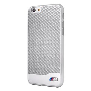 BMW Originele M Carbon Collectie Back Cover Hoesje voor de Apple iPhone 6 / 6S - Zilver
