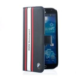BMW Originele Motorsport Collection Bookcase hoesje voor de Samsung Galaxy S4 - Donkerblauw