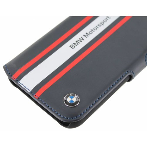 BMW Originele Motorsport Collection Bookcase hoesje voor de Samsung Galaxy S4 - Donkerblauw