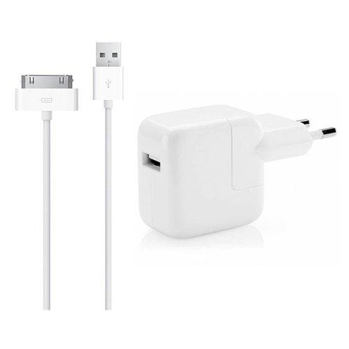 Apple 12W USB Originele Power Adapter oplader met 1 Meter 30-Pens kabel