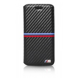 BMW Originele M-Sport Carbon Collection Bookcase hoesje voor de Apple iPhone 6 Plus / 6S Plus - Zwart