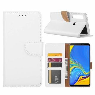 Bookcase Samsung Galaxy A9 2018 hoesje - Wit