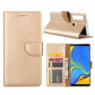 Bookcase Samsung Galaxy A9 2018 hoesje - Goud