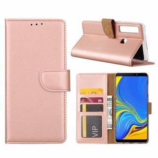 Bookcase Samsung Galaxy A9 2018 hoesje - Rosé Goud
