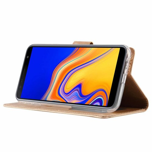Bookcase Samsung Galaxy J4 Plus 2018 hoesje - Goud