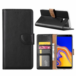Bookcase Samsung Galaxy J4 Plus 2018 hoesje - Zwart