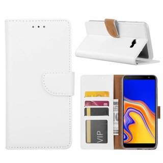 Bookcase Samsung Galaxy J4 Plus 2018 hoesje - Wit