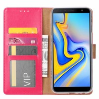 Bookcase Samsung Galaxy J6 Plus 2018 hoesje - Roze