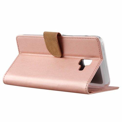 Bookcase Samsung Galaxy J6 Plus 2018 hoesje - Rosé Goud