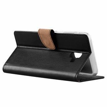 Luxe Lederen Bookcase hoesje voor de Samsung Galaxy J6 Plus 2018 - Zwart