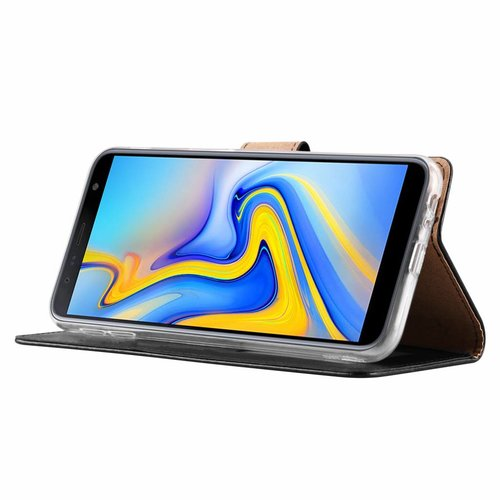 Bookcase Samsung Galaxy J6 Plus 2018 hoesje - Zwart