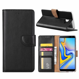 Bookcase Samsung Galaxy J6 Plus 2018 hoesje - Zwart