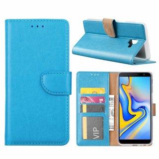 Bookcase Samsung Galaxy J6 Plus 2018 hoesje - Blauw