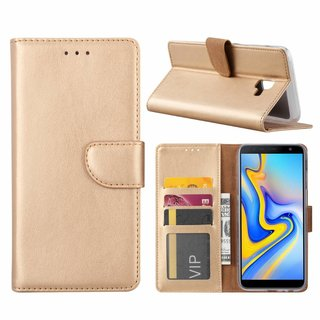 Bookcase Samsung Galaxy J6 Plus 2018 hoesje - Goud