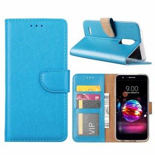 Luxe Lederen Bookcase hoesje voor de LG K11 2018 - Blauw