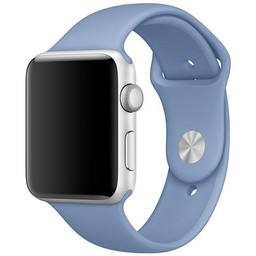 Apple Watch Originele 42mm Siliconen Sportband - Azuurblauw