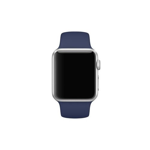 Apple Watch Originele 42mm Siliconen Sportband - Middernachtblauw