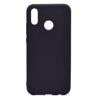 Huawei P20 Lite siliconen (gel) achterkant hoesje - Zwart