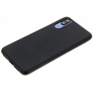 Huawei P20 siliconen (gel) achterkant hoesje - Zwart