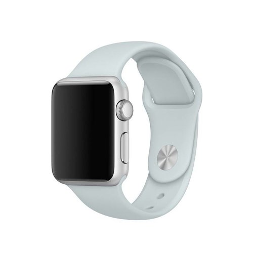 Apple Watch Originele 38mm Siliconen Sportband - Nevelblauw