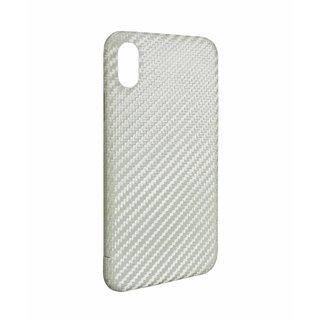 Originele Carbon Back Cover Hoesje voor de Apple iPhone X  / XS - Wit