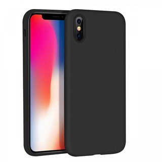 Apple iPhone XS Max siliconen (gel) achterkant hoesje - Zwart