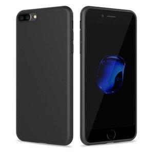 Apple iPhone 8 Plus siliconen (gel) achterkant hoesje - Zwart